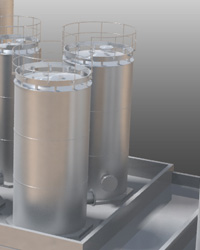 3D rendered silos