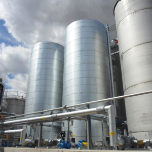 Solvent and resin storage tanks alternative angle