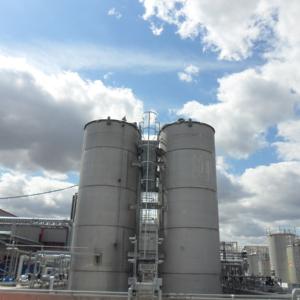 Solvent storage tanks