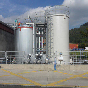 Tank farm complete including road tanker delivery system