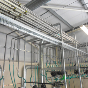 Product transfer pumps and pipework infrastructure