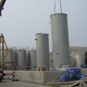 Storage tank installation
