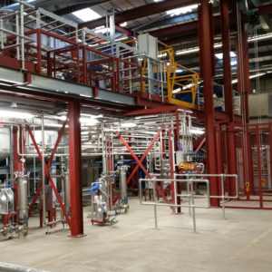 Mezzanine and mechanical equipment installation