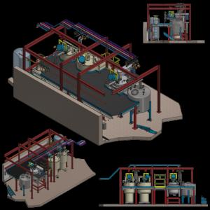 3D process design of new adhesives facility