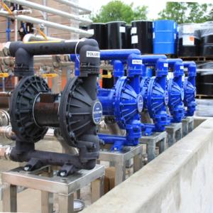 Solvent tank farm transfer pumps