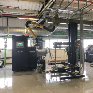 Beadmill installed and located in the main production room.