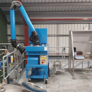 Mobile dust collector and pre weigh booth