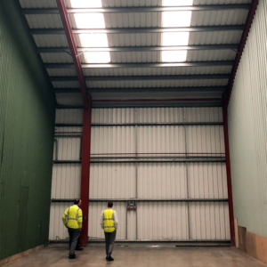 Area cleared of all storage, final inspection before work begins
