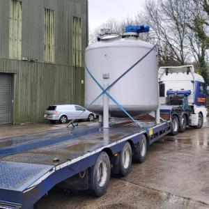 10,000-litre blending vessel delivered to site