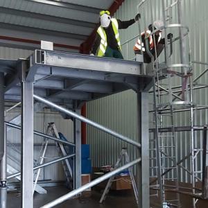 Escape ladder installation