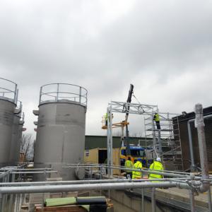 Installation of pipe bridge