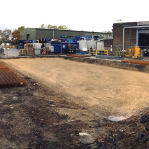 Ground Excavated, filled & compacted, ready for construction