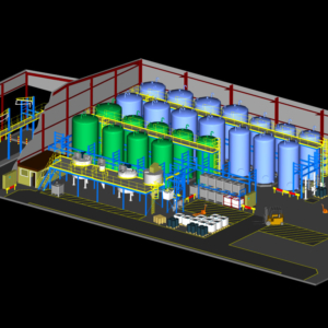 3D visualisation of factory overview