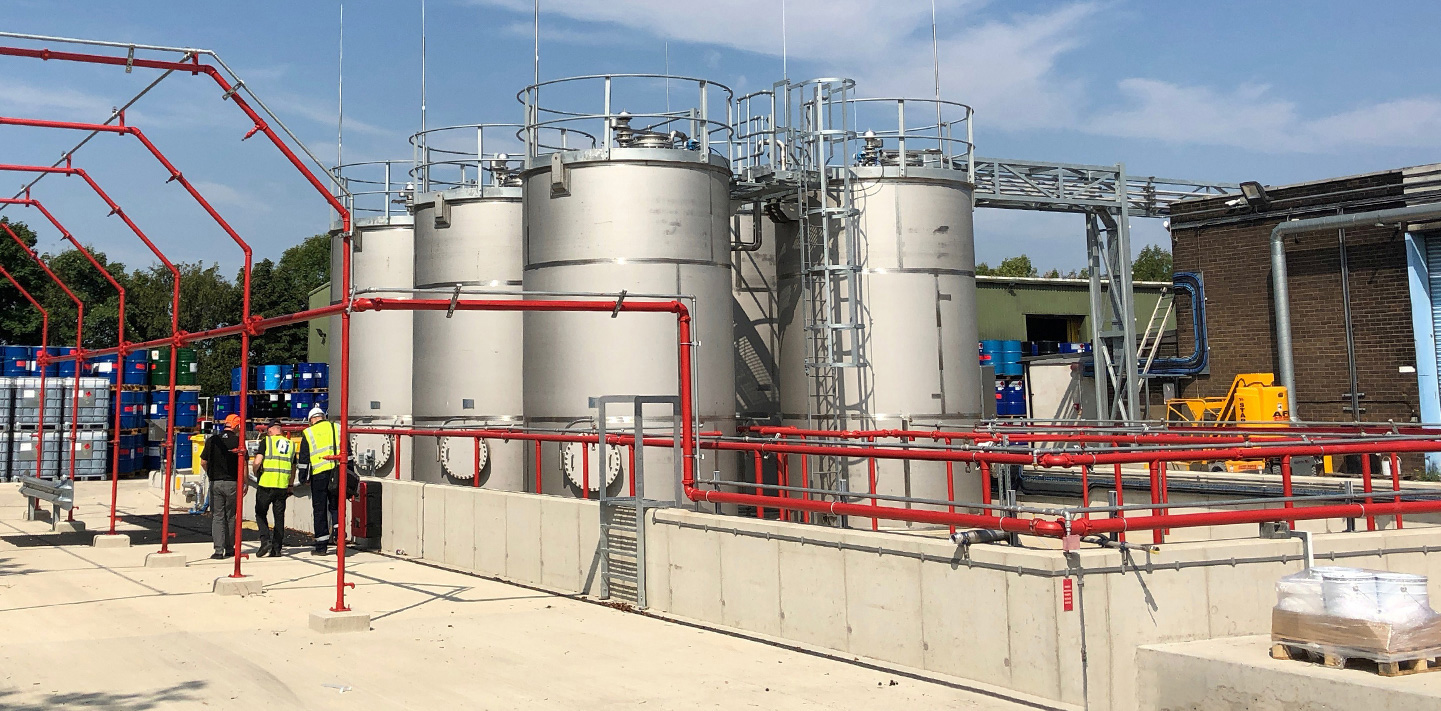 Solvent tank farm project completed